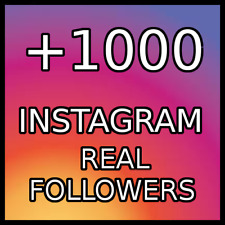 1000  REAL FOLLOWERS |BEST QUALITY|