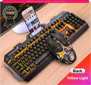 Gaming Keyboard Gaming Mouse Mechanical Feeling RGB LED Backlight Keyboard