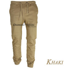 Mens Casual Pants Twill Joggers Hip Hop Elastic Jogger Slim Fit Stretch Trousers