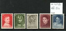 Netherlands 1957 Child Welfare set Sg857/61 Mnh Sg cv £21
