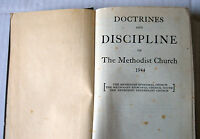 1944 Book Doctrines Discipline of the Methodist Episcopal Protestant Church