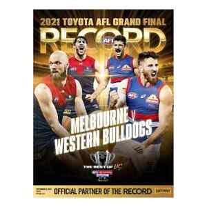 2021 AFL Grand Final Footy Football Record Melbourne Demons Vs Western Bulldogs