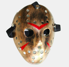 JASON VOORHEES MASK - Black Friday 13th HALLOWEEN Full Face Hard Adults Film UK
