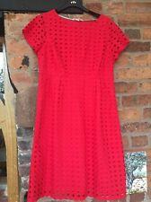 White Stuff Cotton Lace Cut work Dress Size 14 Excellent Condition