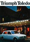 1972 Triumph Toledo 12-page Original Car Sales Brochure Catalog - UK