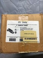 "NIB O-Z Gedney 4"" ALUMINUM FORM 85  UNILET CONDUIT BODY LR400-A"