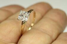 1.00 CT DIAMOND CUSHION CUT ENGAGEMENT RING  14 KARAT SOLID YELLOW GOLD