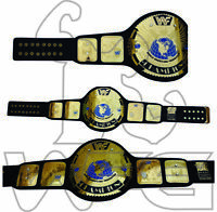 WWF Title World Wrestling Federation Champion Replica Leather Belt 4mm Brass WWE
