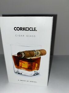 New! Corkcicle CIGAR GLASS - Old Fashioned Glass With Built-In Cigar Holder