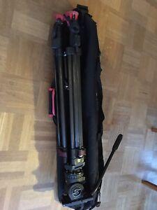 Videostativ Sachtler Speedlock 75 CF und Videokopf FSB 4 mit Tasche