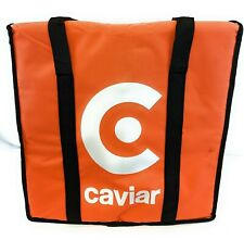"""Caviar Pizza Delivery Bag Thermal Insulated 20""""x 20"""" Nylon holds 4 x 16"""" Pizzas"""