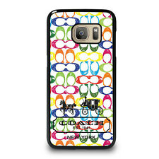 COACH RAINBOW Samsung Galaxy S4 S5 S6 S7 Edge S8 Plus Note Phone Case Cover
