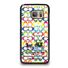 COACH RAINBOW Samsung Galaxy S4 S5 S6 S7 Edge S8 Plus Note Phone Case Cover