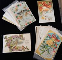 Lot of 20 Vintage Antique Postcards Christmas Easter New Year