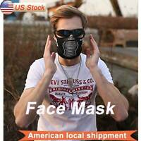 Face Mask Reusable Washable Fashion Adult Spandex Black Mouth Cover Mask