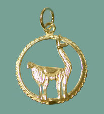 New Llama 24K Gold Plated Sterling Silver Jewelry charm Labyrinth cria animal