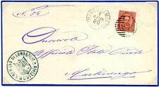 ITALIA - Regno - 1880 - Da Romano di Lombardia/Bg a Martinengo/Bg - 10 cent. Umb