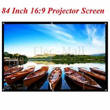 "Portable 84"" Inch 16:9 Fabric Matte Projector Projection Screen To HD Projector"