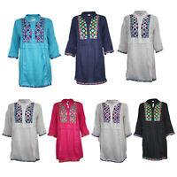 Women Ladies Cotton Stylish Kurti Indian Pakistani Kurta Tunic Top Kaftan 9922