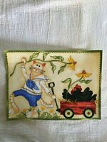 """Whimsical Kitty/Cat - ONE - Iron-On Patch - Applique. 5 3/8"""" x 7 3/8""""  New!"""