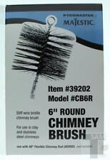 "Majestic Pyromaster 6"" Clay Stainless Round Chimney Brush Item 39202 MN CB6R"
