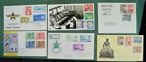 GHANA STAMP COVERS 6 MOST FDC`S   (Z204)