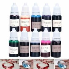 10Clrs 10g Liquid Silicone Epoxy Resin Pigment Dye DIY Crafts for UV resin Art