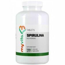 Superfood Spirulina 100% (Spirulina Platensis) 1000 Tablets