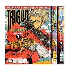 Manga TRIGUN VOL.1-3 Comics Complete Set Japan Comic F/S