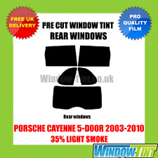 PORSCHE CAYENNE 5-DOOR 2003-2010 35% LIGHT REAR PRE CUT WINDOW TINT