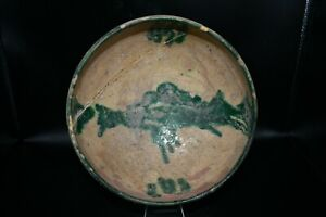 Large Authentic Ancient Islamic Ceramic Bowl From Ancient Near Eastern Nishapur