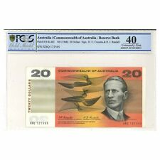 Commonwealth of Australia 1967 $20 Paper Banknote Coombs/Randall  PCGS Graded EF