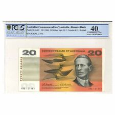 Commonwealth of Australia 1968 $20 Paper Banknote Coombs/Randall  PCGS Graded EF