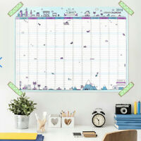 2019 Yearly Planner Annual Wall Desk Chart Year Planner Calendar Chart Decor
