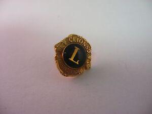 Nice Beautiful Antique Vintage Lions International Lapel Pin Tie Tack Jewelry