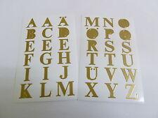 """16mm (0,63 """") GOLD ADESIVA lettere, autoadesiva alfabeto A-Z ADESIVI 59127"""