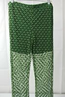 Unbranded Polyester Blend Elastic Waist Green Laced Pants With Shorts Size - XL
