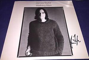 James Taylor Signed Autographed Walking Man Album Cover Vinyl LP Proof w/COA