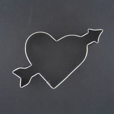 "HEART WITH ARROW 3.5"" METAL COOKIE CUTTER STENCIL PARTY FONDANT LOVE MARRIAGE"