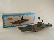 AIRCRAFT CARRIER DIE CAST PENCIL SHARPENER Antique Style NEW