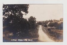 RPPC,Little Cedar Lake,WI.Near West Bend,Washington County.c.1909