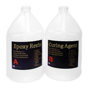 General use clear epoxy resin tabletops, concrete, wood coating - 2- GAL KIT