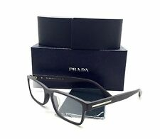 Prada Brown Eyeglasses VPR 01S TV6 1O1 56 mm Matte Demo lenses