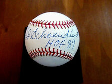 RED SCHOENDIENST HOF 89 5X WSC CARDINALS GIANTS SIGNED AUTO OML BASEBALL JSA