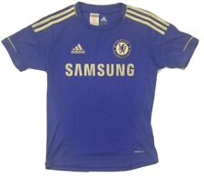 Adidas Chelsea FC Jersey Youth Large Soccer Football Blue and Gold Climacool
