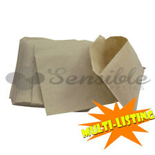 More details for brown kraft paper grocery fruit veg stall take away strung bags all sizes/qty's