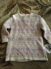NWT NEW GORGEOUS GIRL'S SIZE 12M SARAH LOUISE CREAM & PINK KNIT DRESS