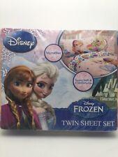 Disney Brand New Frozen Floral Breeze Pink Microfiber Sheet Set Size Twin