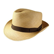 Bates Gentlemens Hatter Woven Straw Mens Hat  Size M Natural Color Was $185