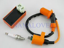 Racing AC CDI Ignition Coil W/ Spark Plug For Gy6 50cc 125cc 150cc Scooter New